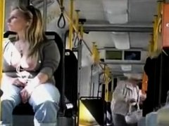 German Girl Being Stalked On The Bus