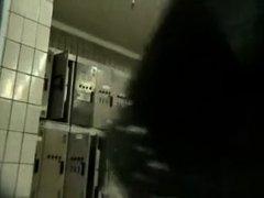 Naked females in the lockers filmed in secret