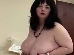 big british mama shows off great tits and big ass