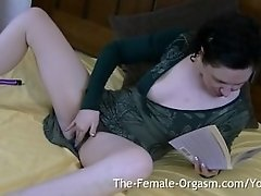 Horny Furry British MILF Reads Book For Masturbation Fantasies