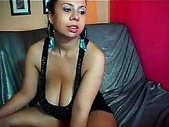 Latina camwhore flashes her big tits 3