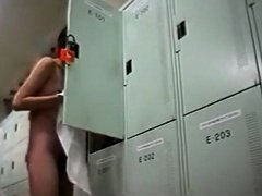 Young asian girls spied in a locker room
