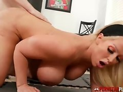 PORNSTARPLATINUM Busty Alura Jenson Seduces Stud In The Gym