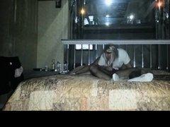 Teen couple in motel