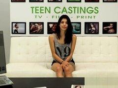 Brutal casting audition for latina teen