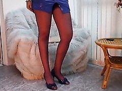 Blonde in blue pvc shine mini dress, for you to bee happy!