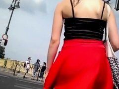 Wind helped so voyeur saw an upskirt