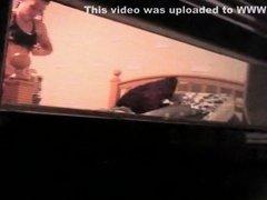 College Girl Filmed Through Window