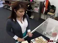 Milf sells husbands stuff