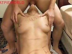 Teenage Babe Degrading Throat Fuck and gets Pissed On