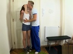 Teen gal likes fingering and fuck