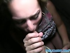 PublicAgent Sexy young babe takes his cum in her mouth