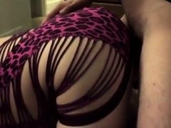 Fucking her like a doggy and cumming on her