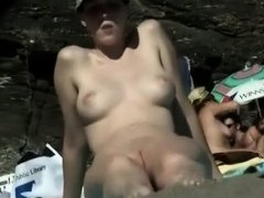 Great tits and tight pussy at the beach