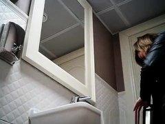 View hidden camera in ladies toilet