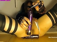 Inserting Stretching Gaping the Green Sissified Cyber Goth Boypussy