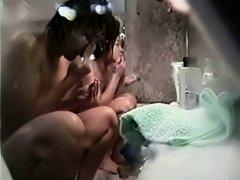 Asian women in a public bath