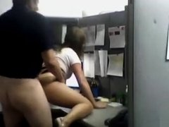 Raunchy office lady gets her pussy nailed by her horny boss