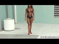Amber DeFrancesco posing in heels