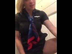 American airline stewardess masturbate in lavatory