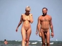 blond in nudist beach