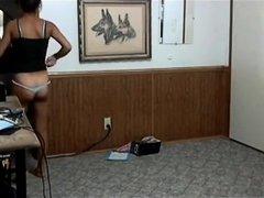 Hot body on a next-door neighbor getting dressed