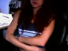Sexually Excited redhead lengthy distance with her boy on livecam