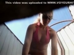 Hidden camera filmed girl
