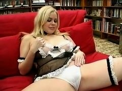 Amazing Amateur video with Blonde, Solo scenes