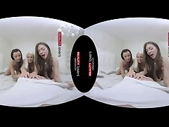 RealityLovers VR - College Dorm Sleepover with 3 Teens
