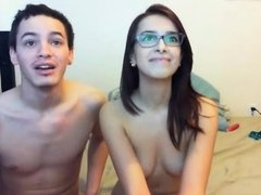 Horny teen couple fucks in a webcam voyeur sex video