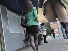 Upskirt legal age teenager after 1st day in office