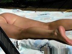 Sunbathing ass