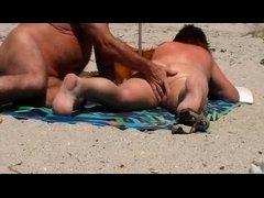Granny on the beach