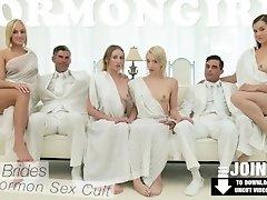 Mormongirlz - Teen virgin gets her first taste of pussy