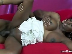Horny lad slammed a beautiful black fat chick