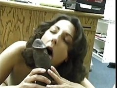 Asian-Pakistani Brunette sucks Big Black Dravidian Dick