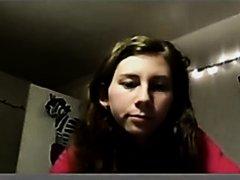 Slut playing on webcam