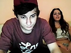 Lovely teen webcam play in threesome