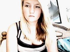 Overweight Girl Playing On Web Camera