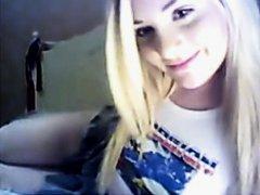 Cute Blonde On WebCam 3