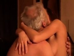 Old man fucked me my tight young pussy I swallow and lick hi
