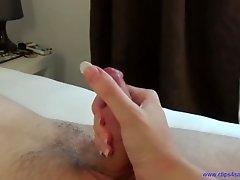 Queen of handjobs punishes and milking helpless slave
