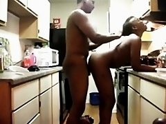 Intense fuck in the kitchen