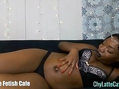 Hot Ebony Tells You to Worship Her Perfect Outie Navel