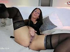 My Dirty Hobby - Brunette fucks her shy date