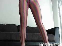 I bought these slutty fishnets to tease you in JOI