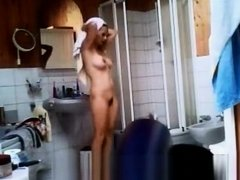 Hot milf caught after shower