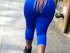 Ghetto Black Thick Big Booty In Blue.mp4