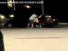 Drunk girl doing it in the parking